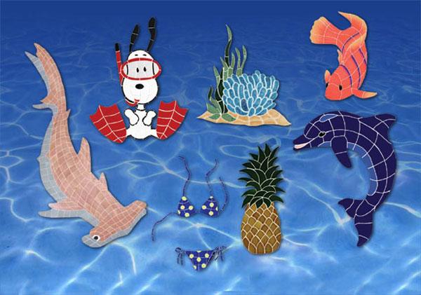 Tropical Island Pools   Mosaic Designs