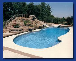 Free Pool Design 003 free form pool with planter Tropical Island Pool Free Form Pools